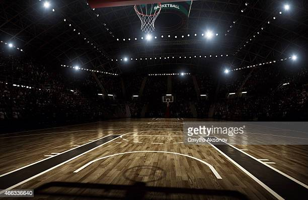 basketball arena - basket stock photos and pictures