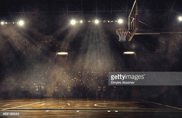 basketball arena - basketbal teamsport stockfoto's en -beelden