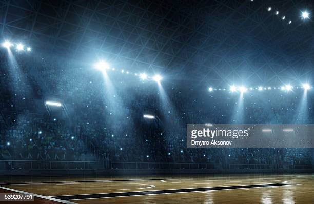 basketball arena - illuminated stock pictures, royalty-free photos & images