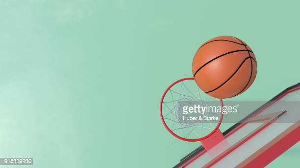 basketball ball hoop - basketball hoop stock pictures, royalty-free photos & images