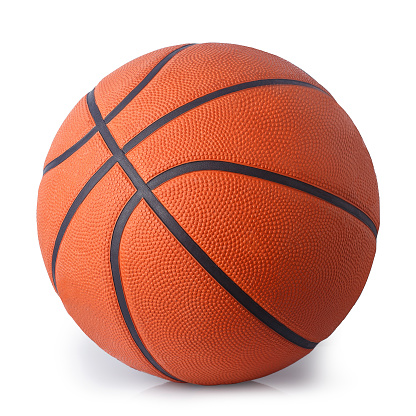 basketball ball isolated on white 861960130