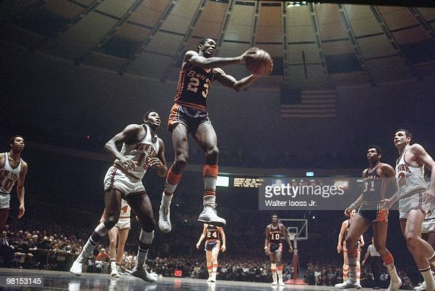 Baltimore Bullets Leroy Ellis in action vs New York Knicks New York NY 2/8/1969 CREDIT Walter Iooss Jr