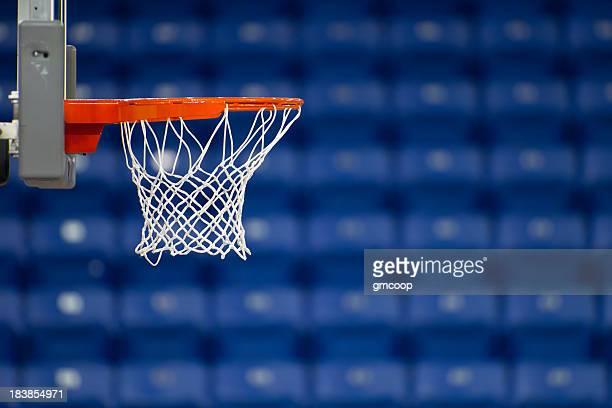 Basketball Basket Blue Arena Seats Horizontal