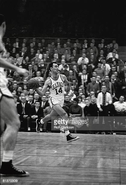 Basketball Boston Celtics Bob Cousy in action vs Cincinnati Royals Boston MA 4/10/1963