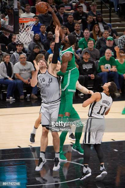 Boston Celtics Jaylen Brown in action vs San Antonio Spurs Pau Gasol at ATT Center San Antonio TX CREDIT Greg Nelson