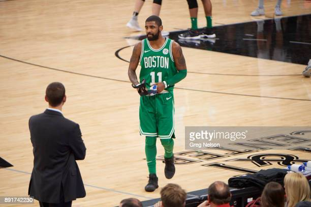 Boston Celtics Kyrie Irving during game vs San Antonio Spurs at ATT Center San Antonio TX CREDIT Greg Nelson