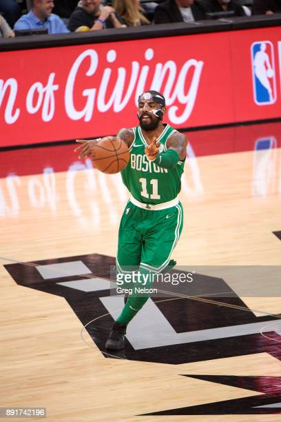 Boston Celtics Kyrie Irving in action passing vs San Antonio Spurs at ATT Center San Antonio TX CREDIT Greg Nelson