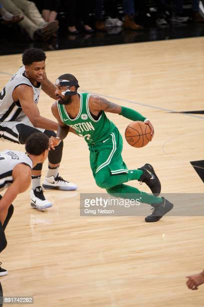 Boston Celtics Kyrie Irving in action vs San Antonio Spurs Rudy Gay at ATT Center San Antonio TX CREDIT Greg Nelson