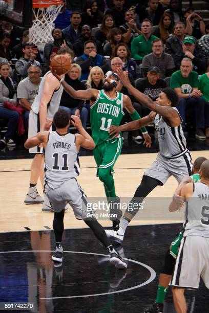 Boston Celtics Kyrie Irving in action vs San Antonio Spurs at ATT Center San Antonio TX CREDIT Greg Nelson