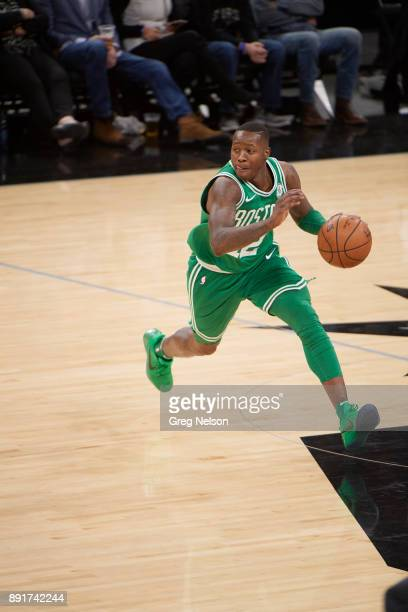 Boston Celtics Terry Rozier in action vs San Antonio Spurs at ATT Center San Antonio TX CREDIT Greg Nelson