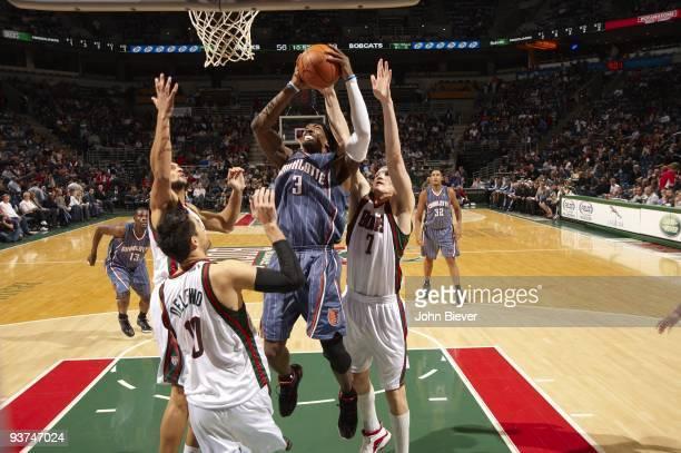 Charlotte Bobcats Gerald Wallace in action vs Milwaukee Bucks Milwaukee WI CREDIT John Biever
