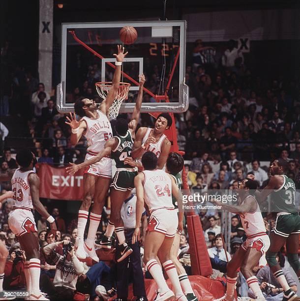 Chicago Bulls Artis Gilmore in action vs Boston Celtics Chicago IL CREDIT Heinz Kluetmeier
