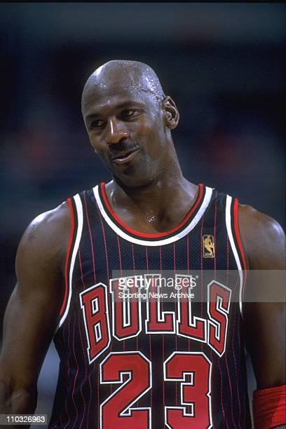NBA Basketball Chicago Bulls guard Michael Jordan during a game against the Milwaukee Bucks on December 3 1996 in Milwaukee The Bulls won the game...