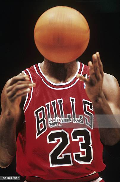 Chicago Bulls Michael Jordan in action taking foul shot vs New Jersey Nets at Brendan Byrne Arena Sequence East Rutherford NJ CREDIT Neil Leifer