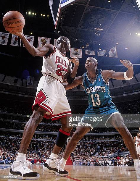Chicago Bulls Michael Jordan in action vs Boston Celtics. Chicago, IL 11/4/1995 CREDIT: David E. Klutho