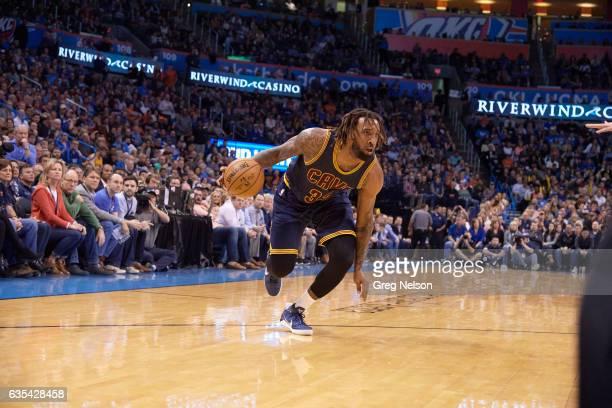 Cleveland Cavaliers Derrick Williams in action vs Oklahoma City Thunder at Chesapeake Energy Arena Oklahoma City OK CREDIT Greg Nelson
