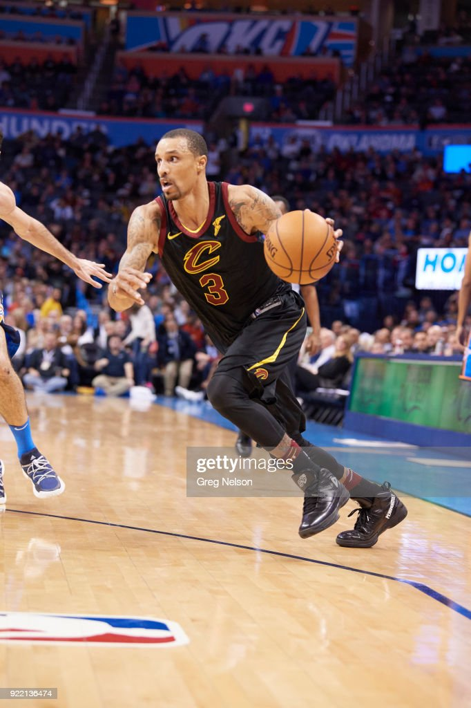 Cleveland Cavaliers George Hill (3) in action vs Oklahoma City Thunder at Chesapeake Energy Arena. Greg Nelson TK1 )