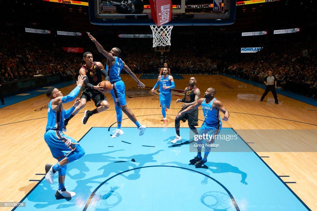 Cleveland Cavaliers Jordan Clarkson (8) in action vs Oklahoma City Thunder at Chesapeake Energy Arena. Greg Nelson TK1 )