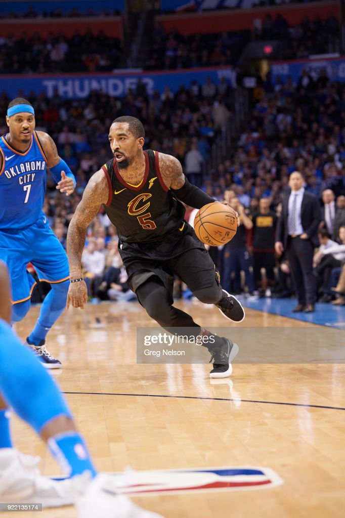 Cleveland Cavaliers JR Smith (5) in action vs Oklahoma City Thunder at Chesapeake Energy Arena. Greg Nelson TK1 )