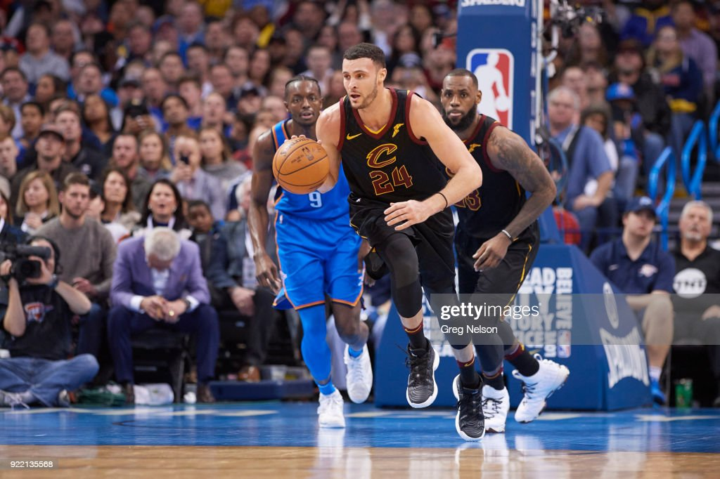 Cleveland Cavaliers Larry Nance Jr. (24) in action vs Oklahoma City Thunder at Chesapeake Energy Arena. Greg Nelson TK1 )