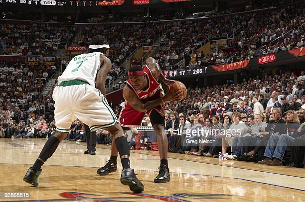 Cleveland Cavaliers LeBron James in action vs Boston Celtics Cleveland OH CREDIT Greg Nelson