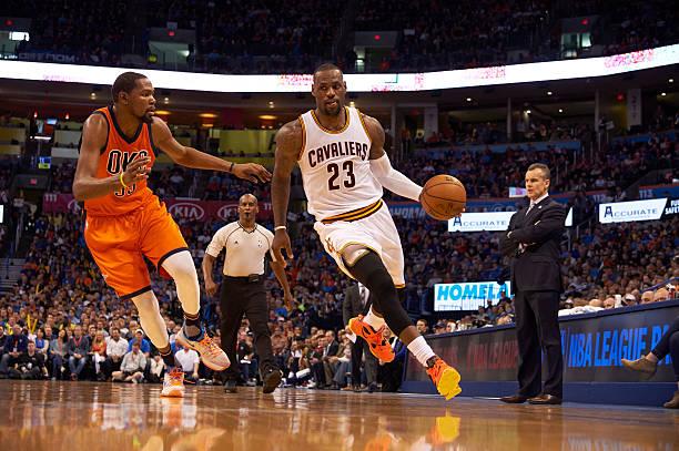 6ac44821e Oklahoma City Thunder vs Cleveland Cavaliers Pictures