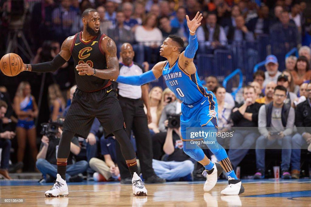 Oklahoma City Thunder vs Cleveland Cavaliers : News Photo