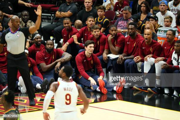Cleveland Cavaliers Richard Jefferson on bench during preseason game vs Atlanta Hawks at Quicken Loans Arena Cleveland OH CREDIT David E Klutho