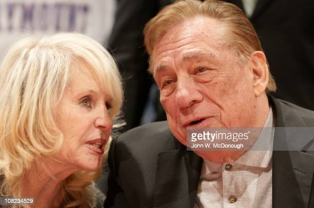 Closeup of Los Angeles Clippers owner Donald Sterling with wife Shelly during game vs Miami Heat at Staples CenterLos Angeles CA 1/12/2011CREDIT John...