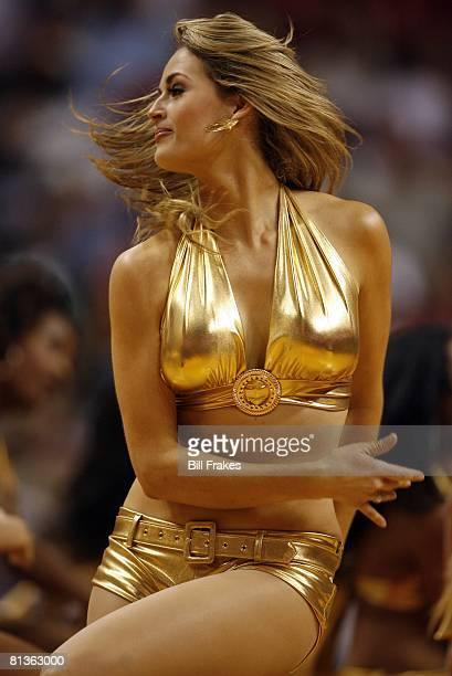 Basketball Closeup of Miami Heat Dance Team cheerleader during game vs Cleveland Cavaliers Miami FL 3/12/2006