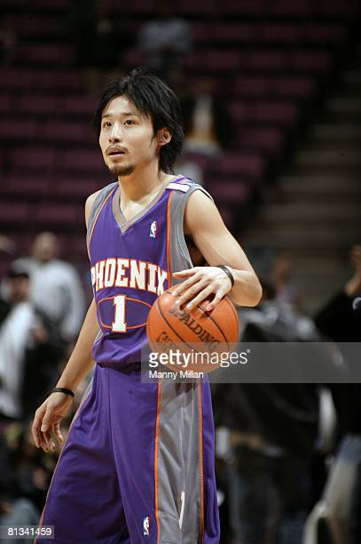 Basketball Closeup of Phoenix Suns Yuta Tabuse in action vs New Jersey Nets East Rutherford NJ 11/6/2004