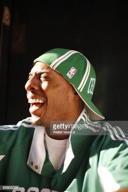 Closeup portrait of Boston Celtics Paul Pierce on Acorn Street in Beacon Hill neighborhood Boston MA 9/24/2008 CREDIT Walter Iooss Jr