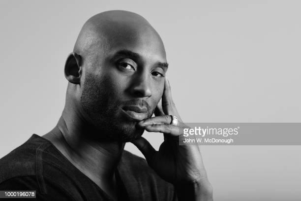 Closeup portrait of former Los Angeles Lakers guard Kobe Bryant posing during photo shoot Costa Mesa CA CREDIT John W McDonough