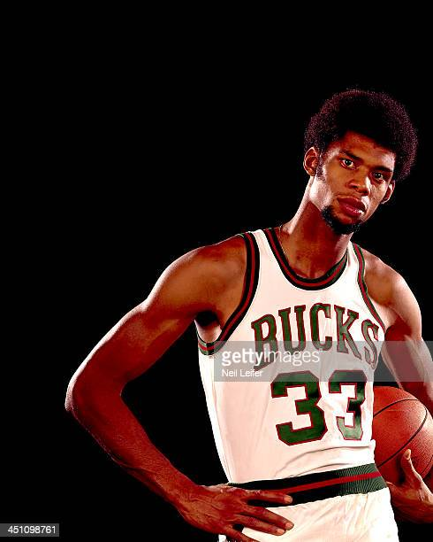 Closeup portrait of Milwaukee Bucks Lew Alcindor during photo shoot New  York NY CREDIT Neil Leifer d131f5ad4