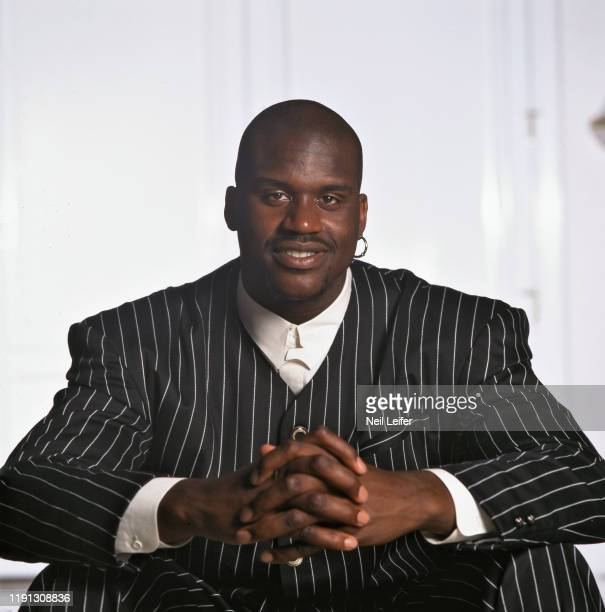 Closeup portrait of Orlando Magic center Shaquille O'Neal casual during photo shoot at his home in Isleworth. Windermere, FL 4/4/1995 CREDIT: Neil...