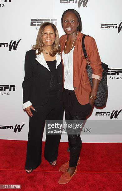 Basketball Coach C Vivian Stringer and Essence Carson attend 'Venus Vs' and 'Coach' New York Special Screening at Paley Center For Media on June 24...