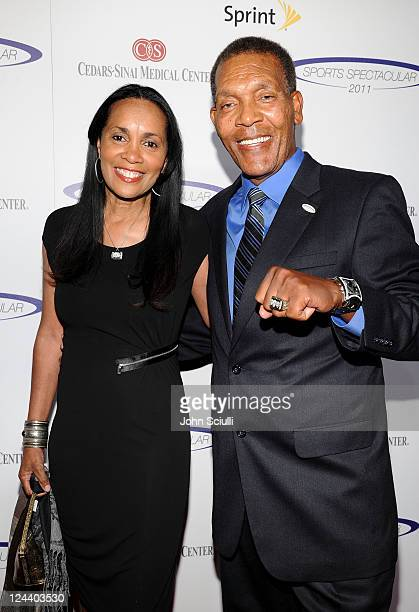 Basketball coach Mike Davis and wife Mary arrive at the 2011 Cedars Sinai Sports Spectacular at Hyatt Regency Century Plaza on May 22 2011 in Beverly...