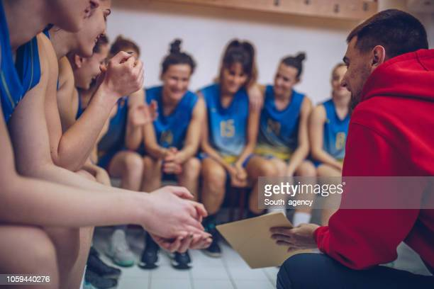 Basketball-Trainer sprechen Strategie