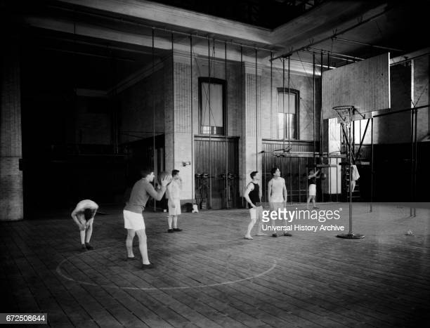 Basketball, Columbia University, New York City, New York, USA, Bain News Service, 1908.
