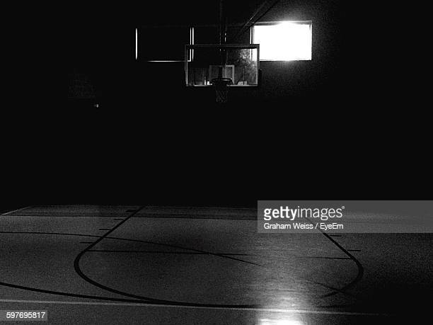 Basketball Court In Darkroom