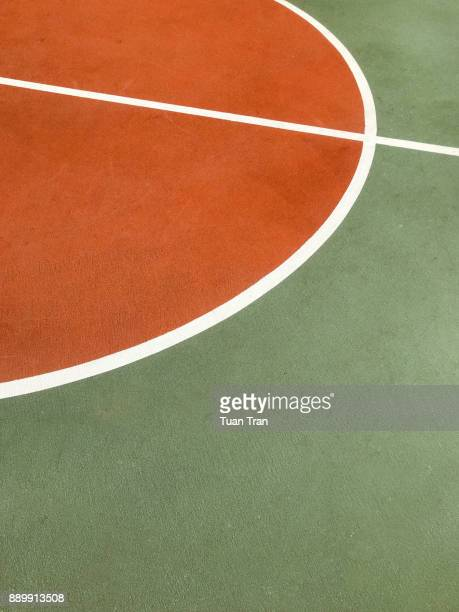 basketball court lines - basketball sport stock pictures, royalty-free photos & images