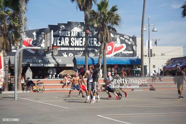 Basketball courts in Venice Beach California