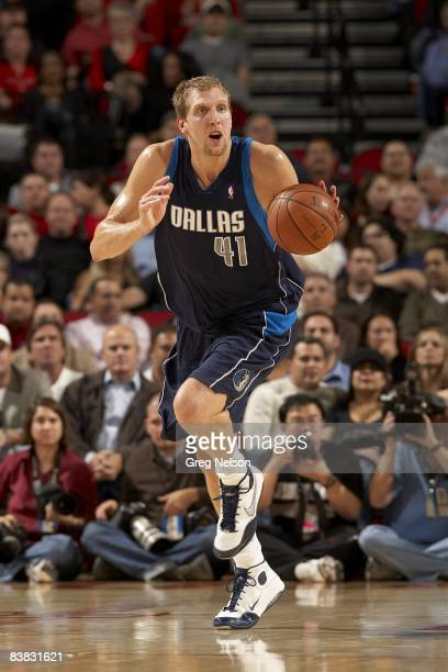 Dallas Mavericks Dirk Nowitzki in action vs Houston Rockets Houston TX CREDIT Greg Nelson