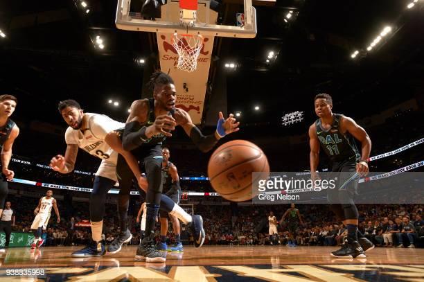 Dallas Mavericks Nerlens Noel in action vs New Orleans Pelicans Anthony Davis at Smoothie King Center. New Orleans, LA 3/20/2018 CREDIT: Greg Nelson