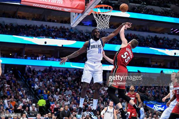 Dallas Mavericks Tim Hardaway Jr in action vs Miami Heat Duncan Robinson at American Airlines Center Dallas TX CREDIT Greg Nelson