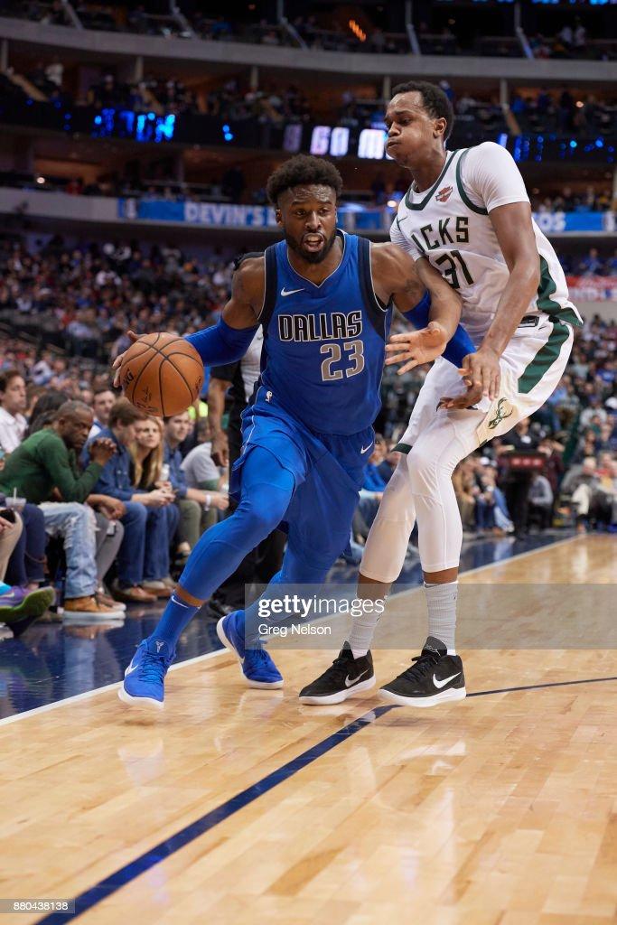 Dallas Mavericks Wesley Matthews in action vs Milwaukee