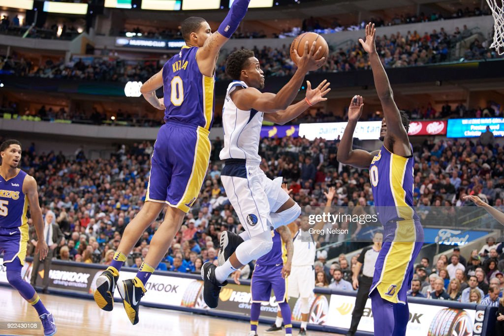Dallas Mavericks Yogi Ferrell (11) in action vs Los Angeles Lakers at American Airlines Center. Greg Nelson TK1 )