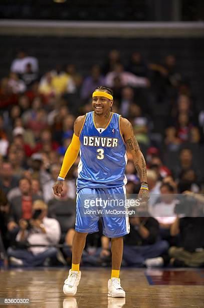 Denver Nuggets Allen Iverson during game vs Los Angeles Clippers Los Angeles CA 11/1/2008 CREDIT John W McDonough