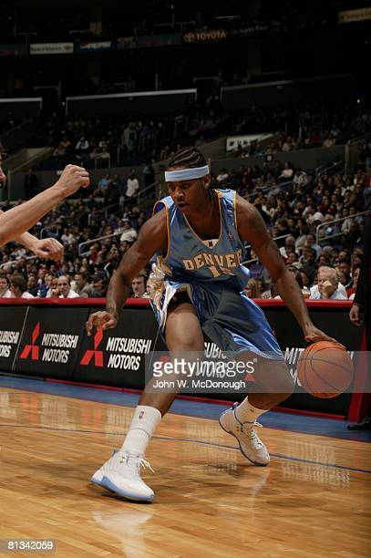 Basketball Denver Nuggets Carmelo Anthony in action vs Los Angeles Clippers Los Angeles CA