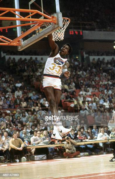 Denver Nuggets David Thompson in action dunking vs Indiana Pacers at McNichols Sports Arena Denver CO CREDIT Carl Iwasaki
